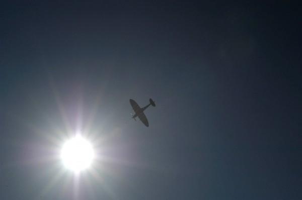Rather a nice Spitfire taken flying over The River Thames