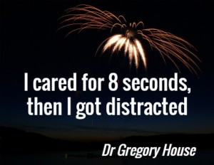 I cared for 8 seconds, then I got distracted. Dr Gregory House